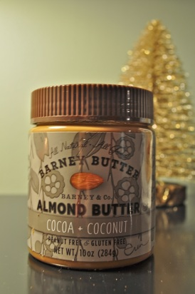 We're huge fans of this Barney's Almond Butter with Cocoa and Coconut.