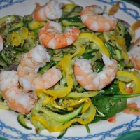 Pumpkin Seed, Squash and Shrimp Saute