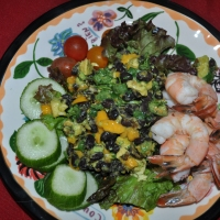 Shrimp and Mango Black Bean Avocado Salad